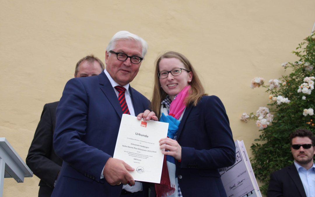 """SPD Hasbergen mit 1. Platz beim """"6-Sterne-Plus-Wettbewerb"""" ausgezeichnet"""