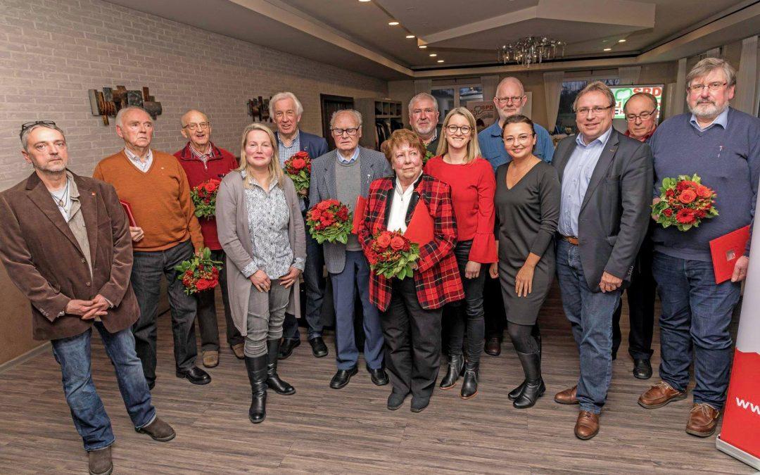 Jahreshauptversammlung 2019 der SPD Hasbergen bei Schirmbeck-Hunsche