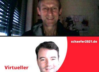 Virtueller Dialog von Bürgermeisterkandidat Adrian Schäfer mit dem Squash-Club Hasbergen e.V.