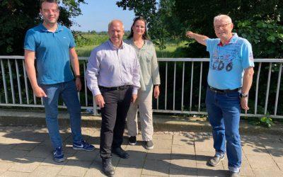 """Bürgermeisterkandidat Adrian Schäfer im Dialog mit der Bürgerinitiative """"Lebenswertes Hasbergen"""""""